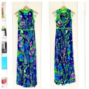 60s Floral Maxi with Back Cutout